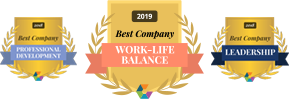 Comparably 2018 Best Company for Professional Development, Leadership and Managers