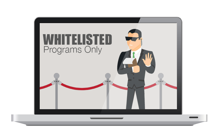 Whitelisted Programs Only
